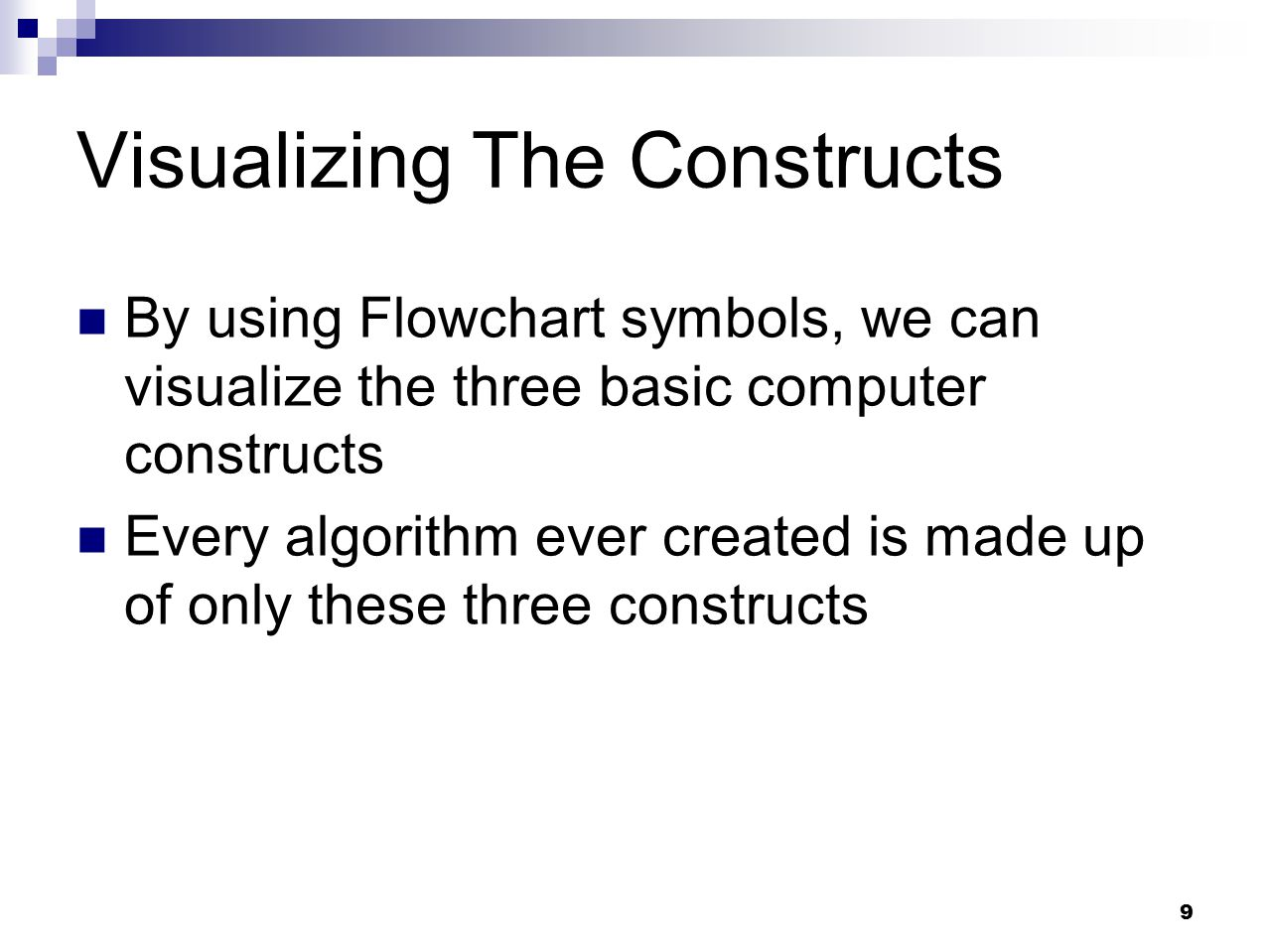 Visualizing The Constructs