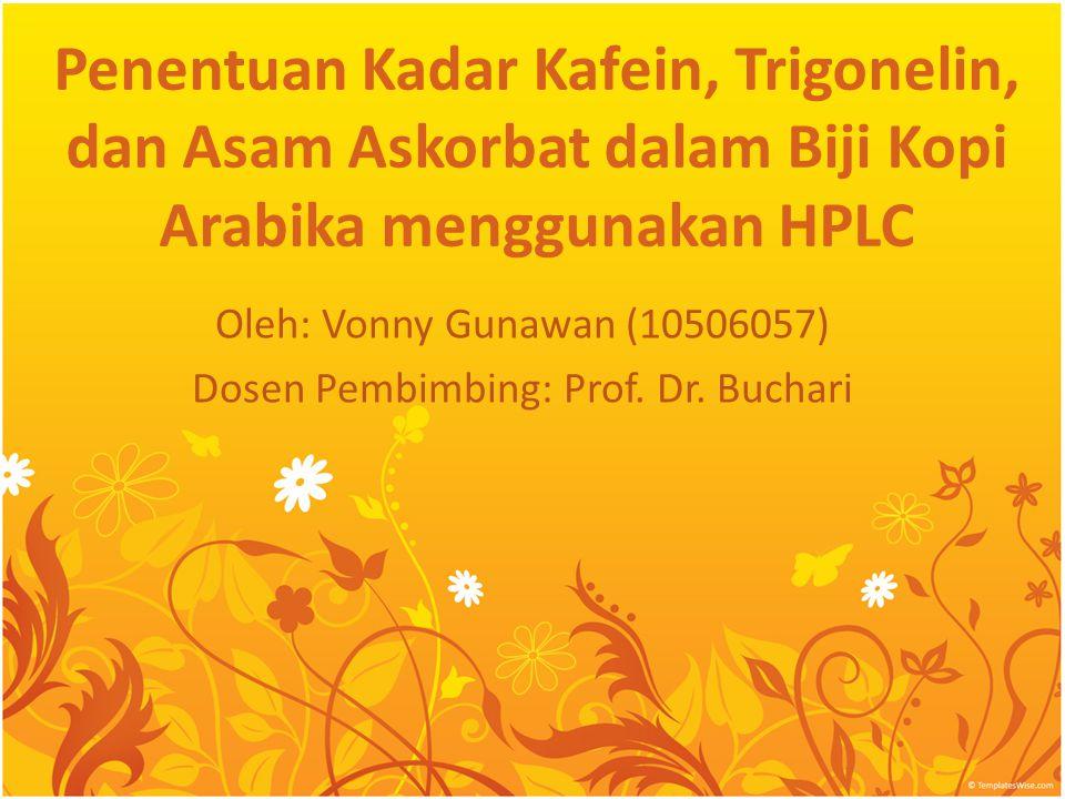 Oleh: Vonny Gunawan (10506057) Dosen Pembimbing: Prof. Dr. Buchari