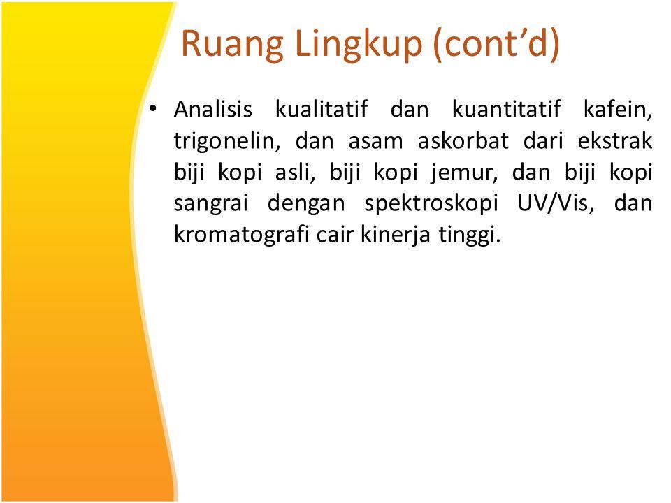 Ruang Lingkup (cont'd)