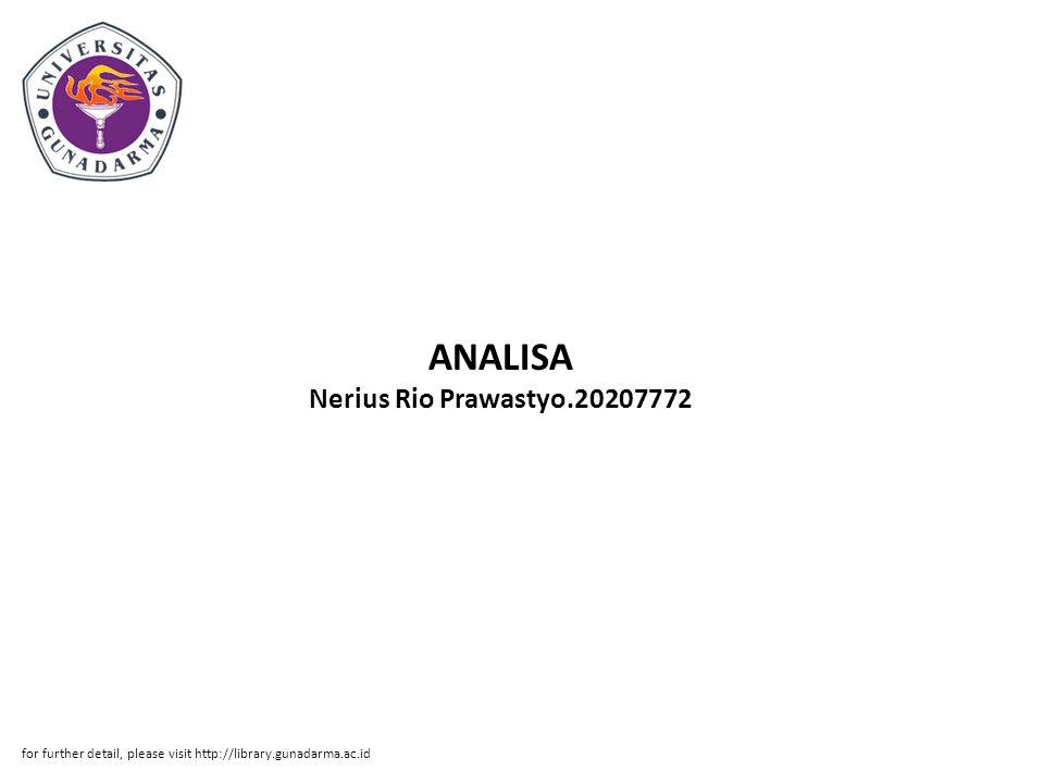 ANALISA Nerius Rio Prawastyo.20207772