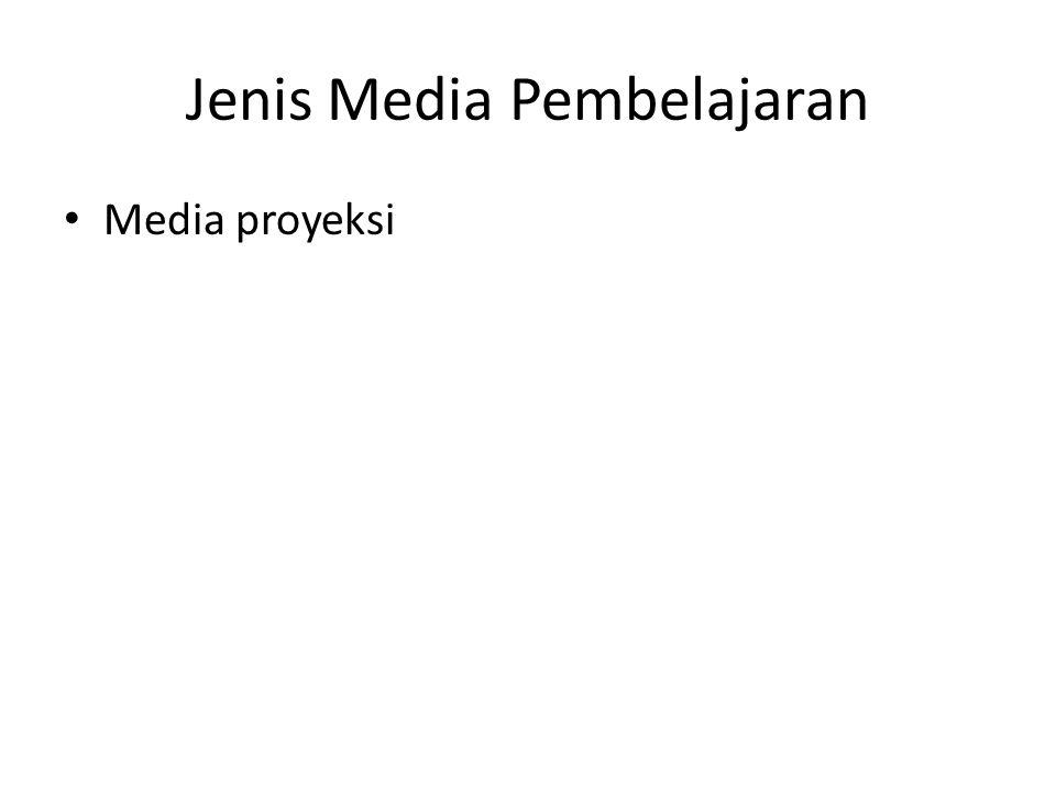 Jenis Media Pembelajaran