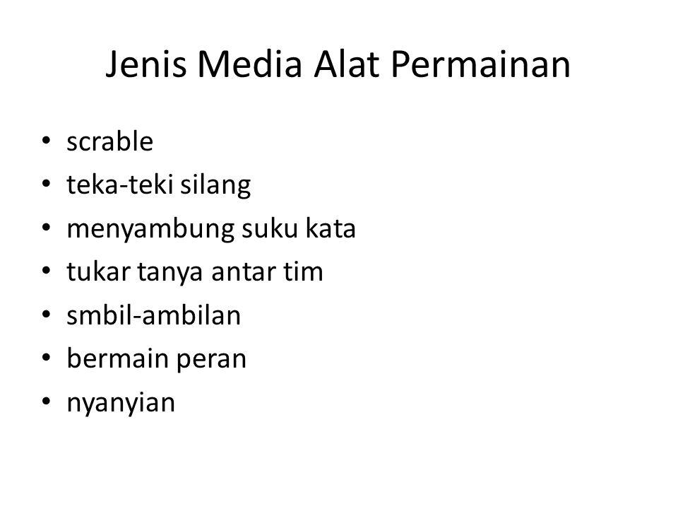 Jenis Media Alat Permainan