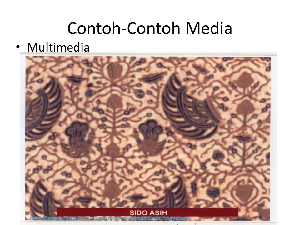 Contoh-Contoh Media Multimedia
