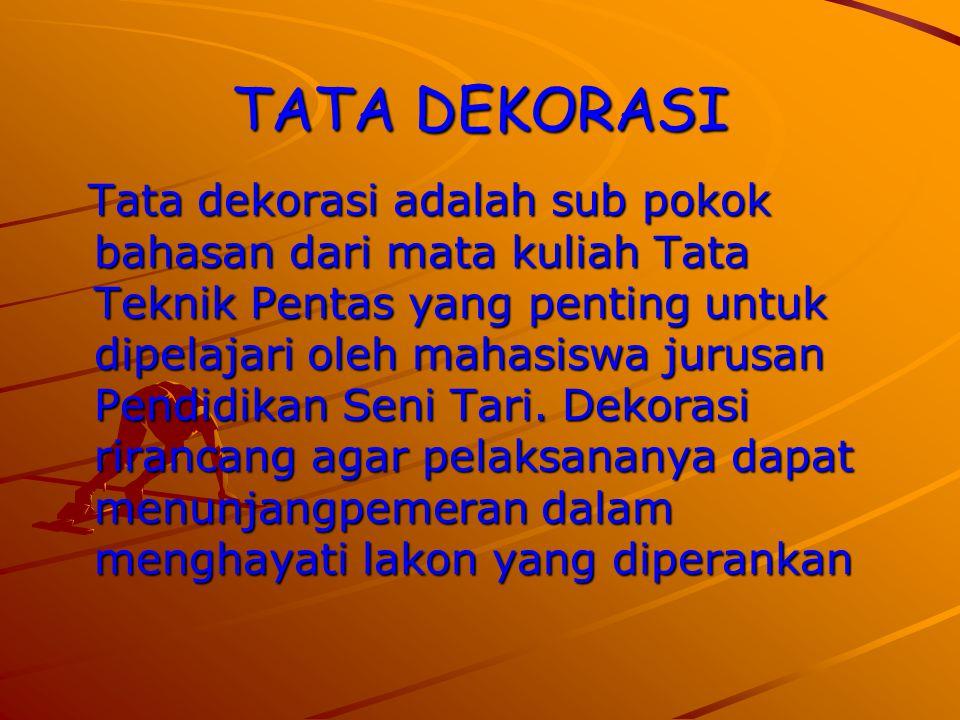 TATA DEKORASI