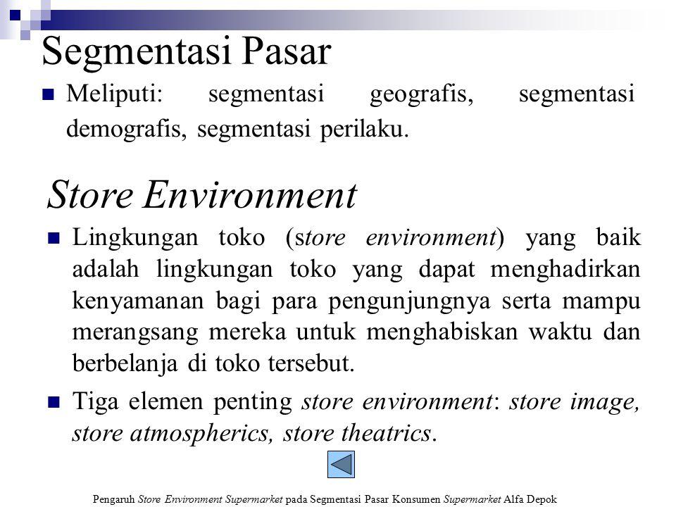Segmentasi Pasar Store Environment