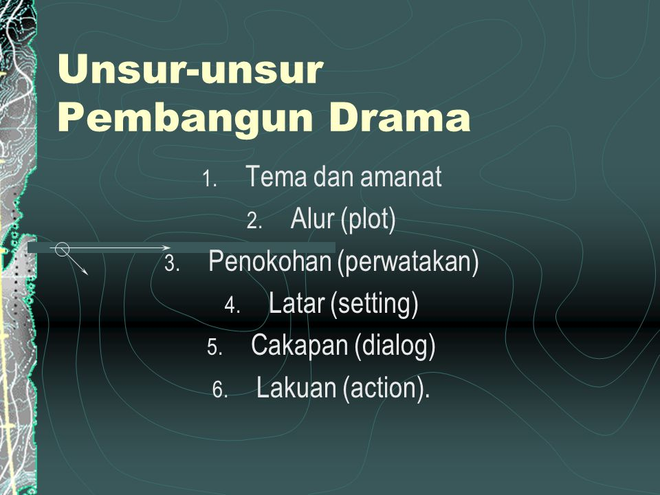 Unsur-unsur Pembangun Drama