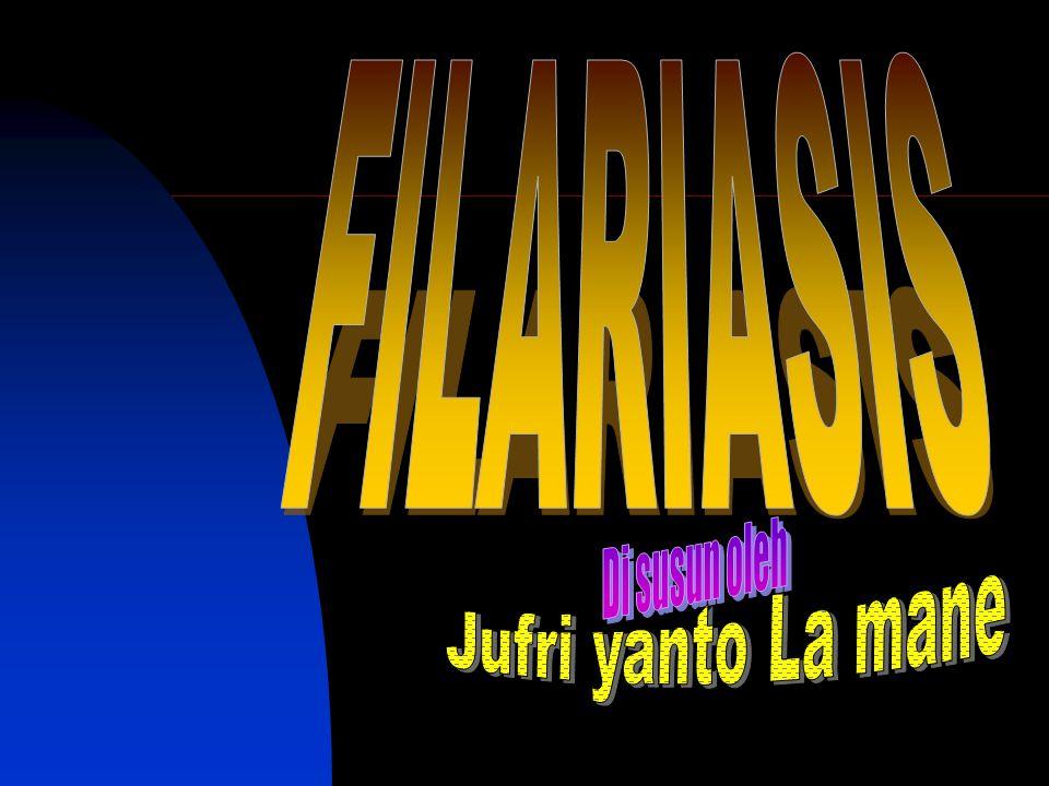 FILARIASIS Di susun oleh Jufri yanto La mane