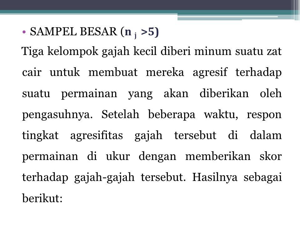 SAMPEL BESAR (n j >5)
