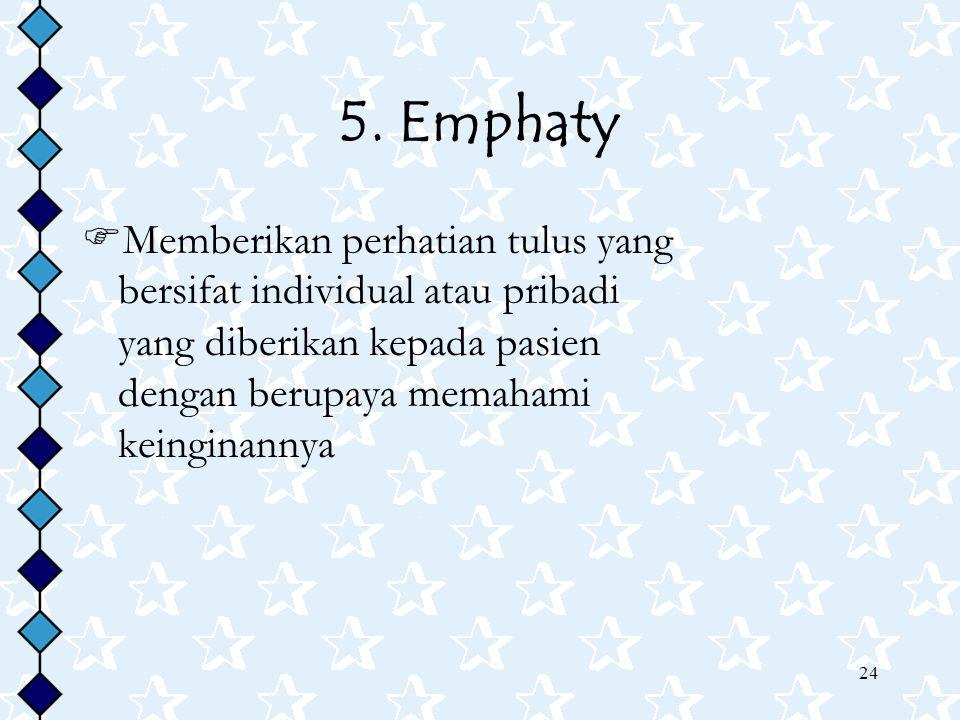 5. Emphaty