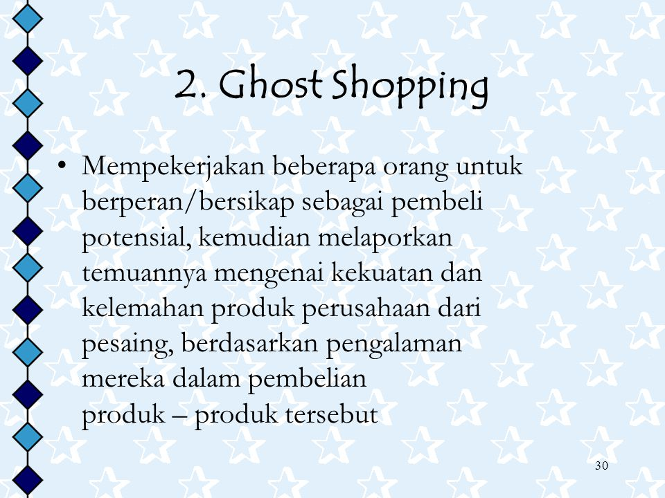 2. Ghost Shopping