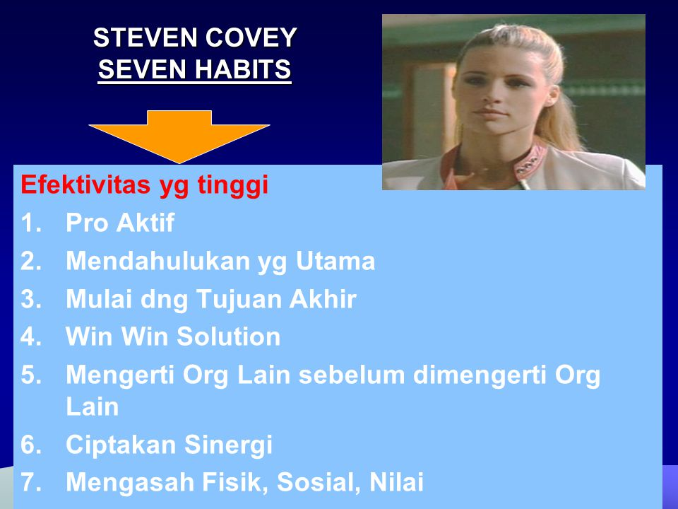 STEVEN COVEY SEVEN HABITS