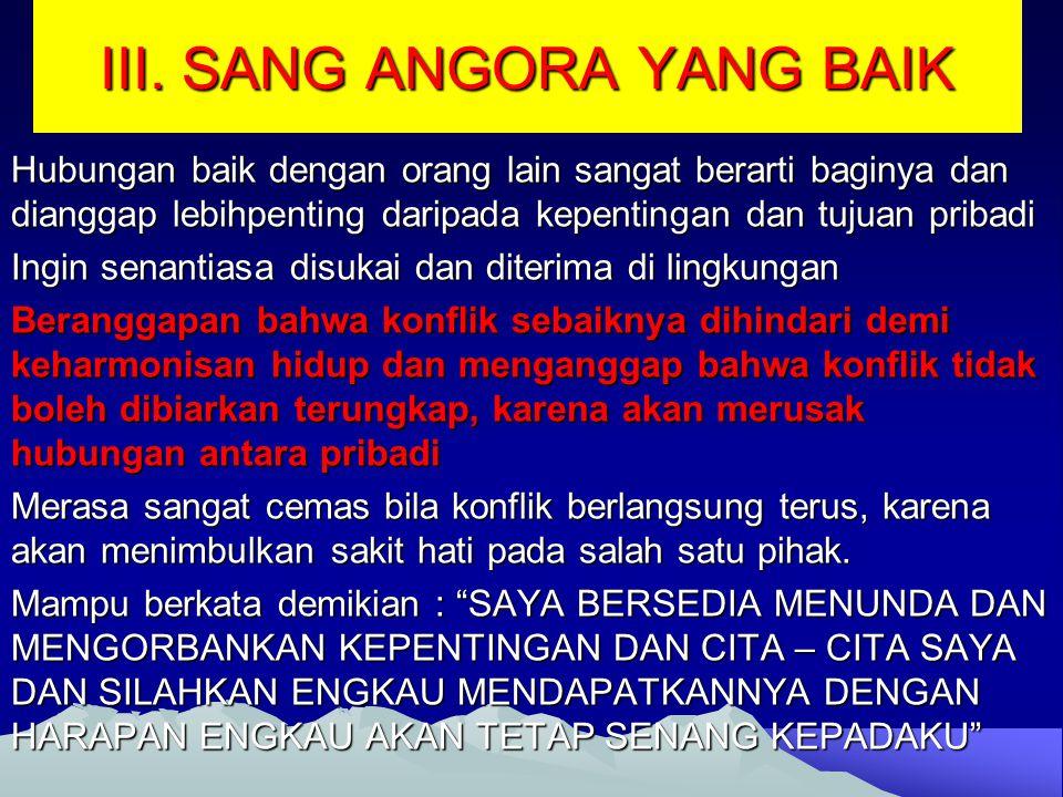 III. SANG ANGORA YANG BAIK