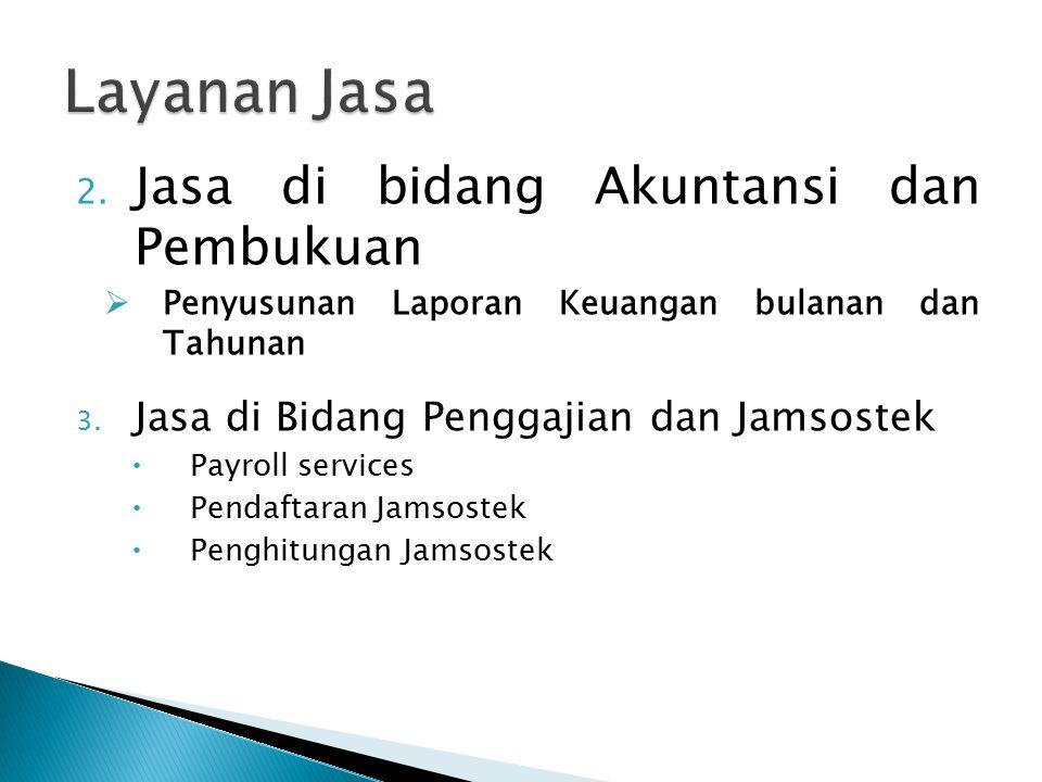 Layanan Jasa Jasa di bidang Akuntansi dan Pembukuan