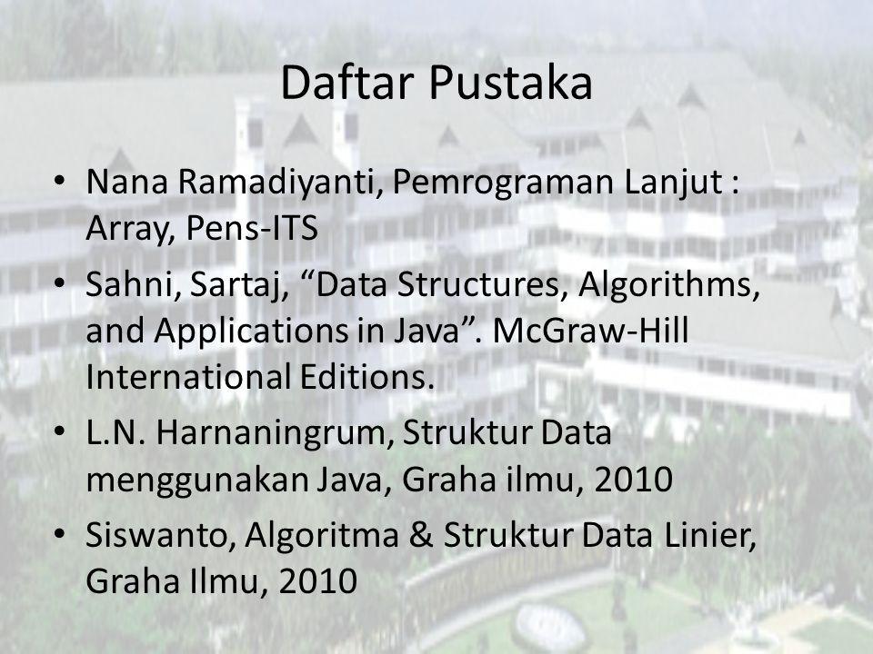 Daftar Pustaka Nana Ramadiyanti, Pemrograman Lanjut : Array, Pens-ITS
