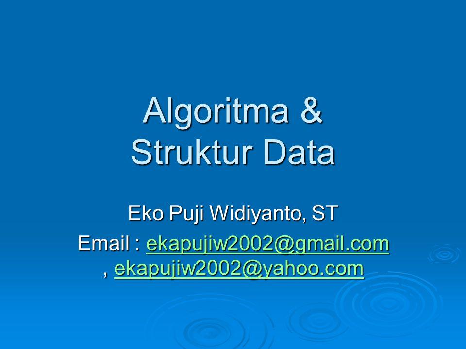 Algoritma & Struktur Data