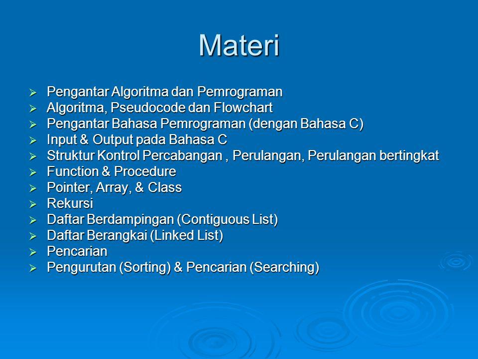 Materi Pengantar Algoritma dan Pemrograman