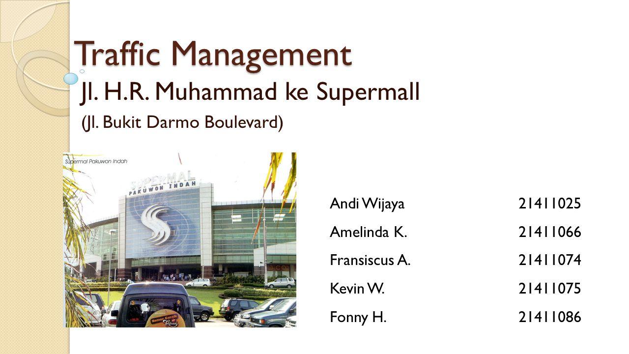 Jl. H.R. Muhammad ke Supermall (Jl. Bukit Darmo Boulevard)