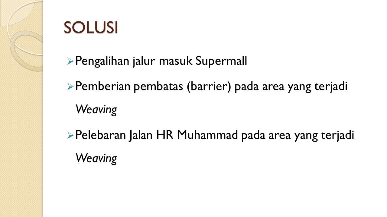 SOLUSI Pengalihan jalur masuk Supermall