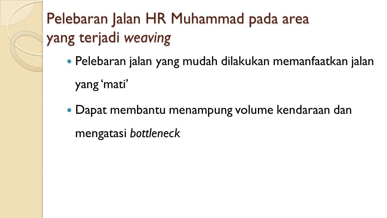 Pelebaran Jalan HR Muhammad pada area yang terjadi weaving
