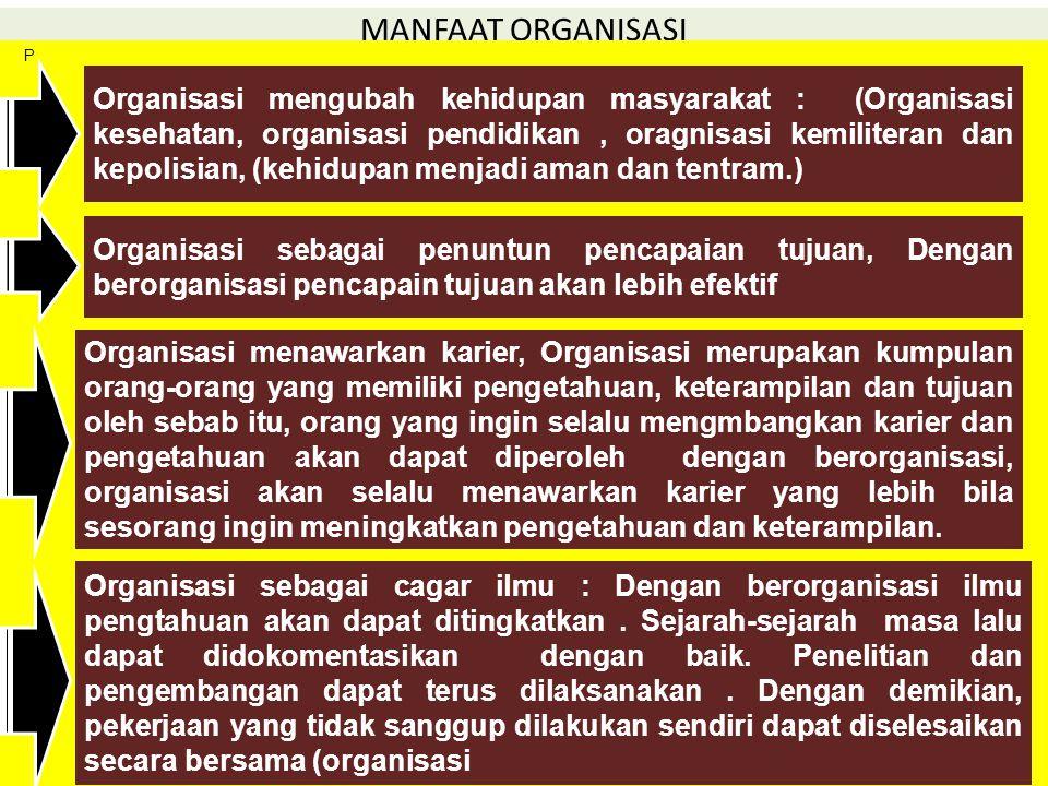 MANFAAT ORGANISASI P.