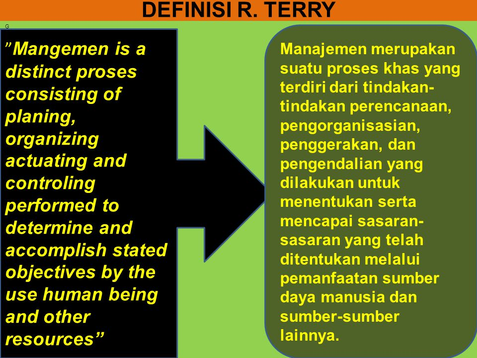DEFINISI R. TERRY G.