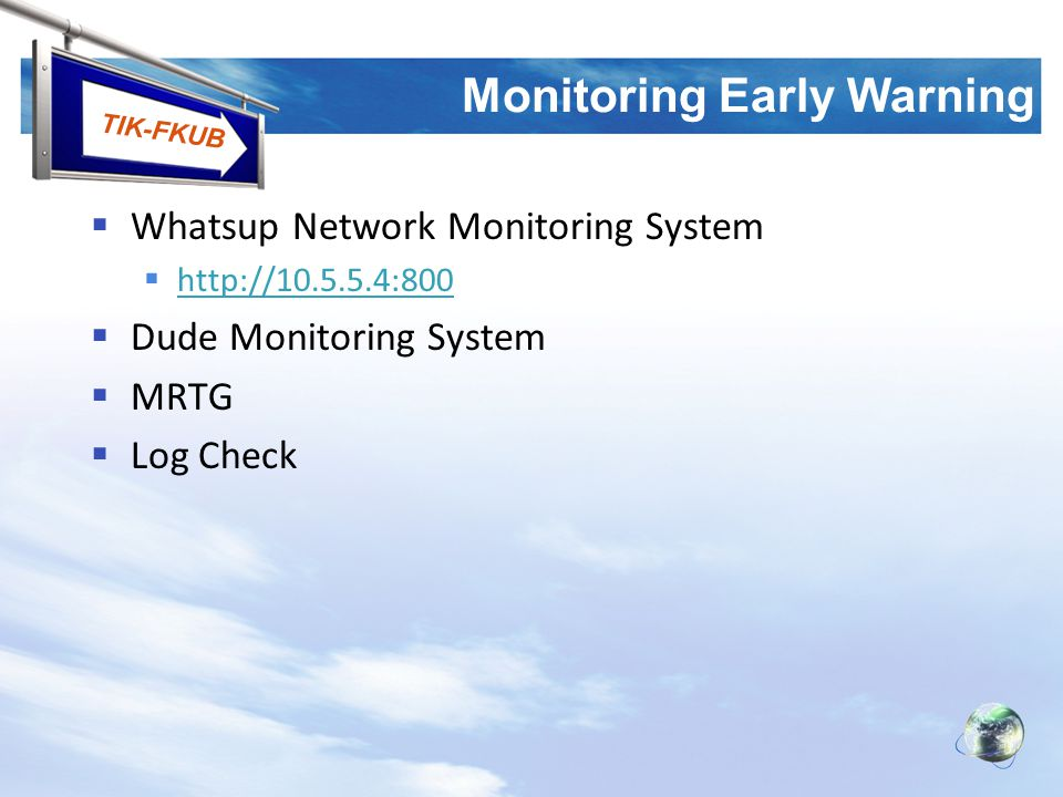 Monitoring Early Warning