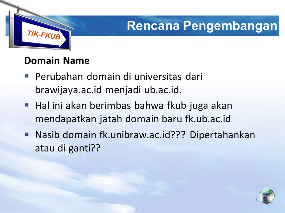Rencana Pengembangan Domain Name