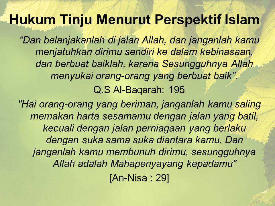 Hukum Tinju Menurut Perspektif Islam