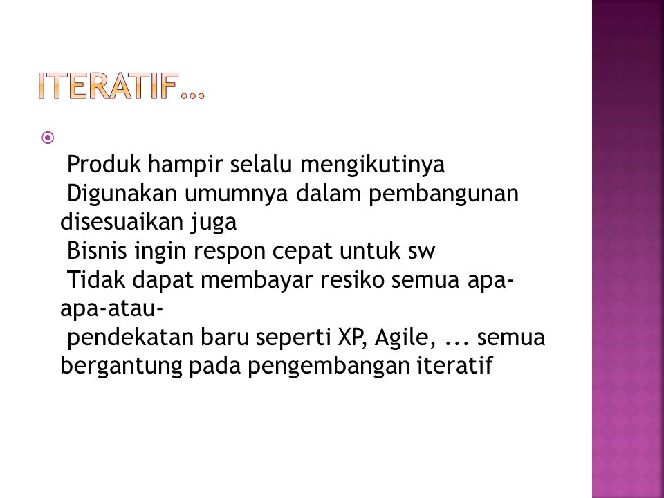 Iteratif…