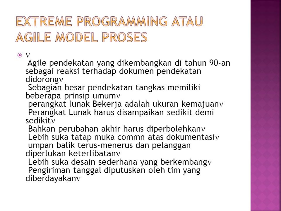 Extreme Programming atau Agile Model Proses