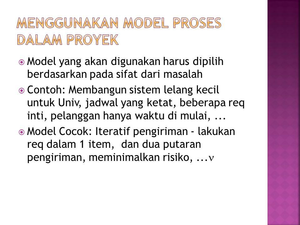 Menggunakan Model Proses dalam Proyek