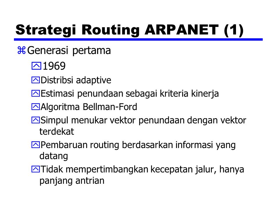 Strategi Routing ARPANET (1)