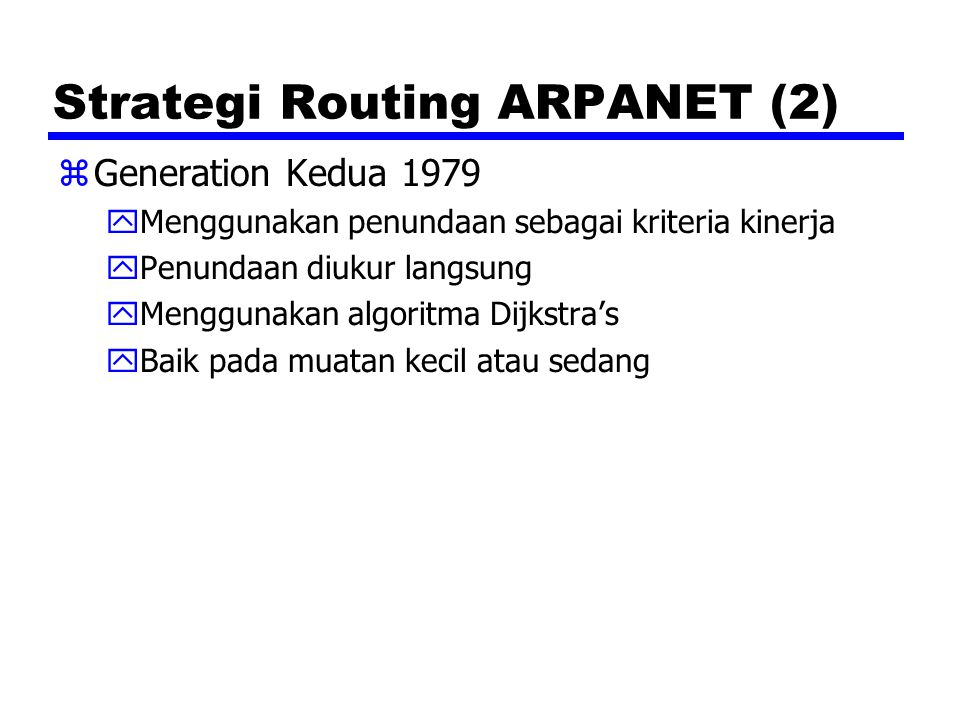 Strategi Routing ARPANET (2)