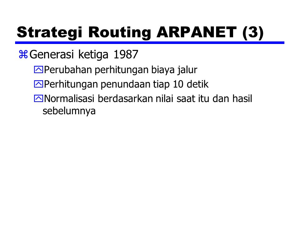 Strategi Routing ARPANET (3)