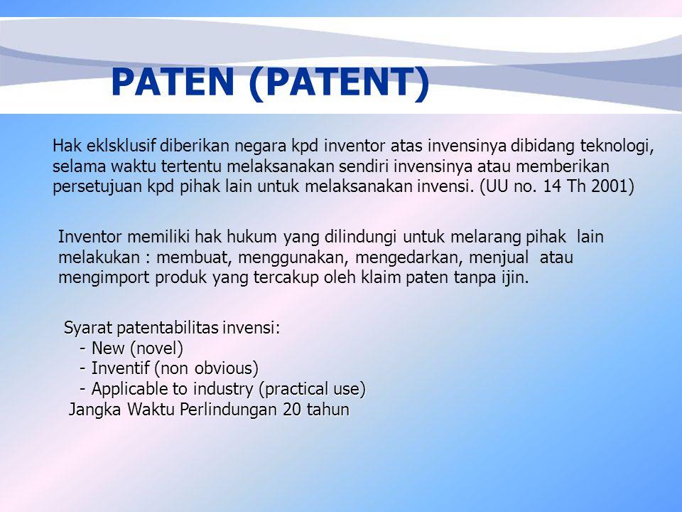 PATEN (PATENT)