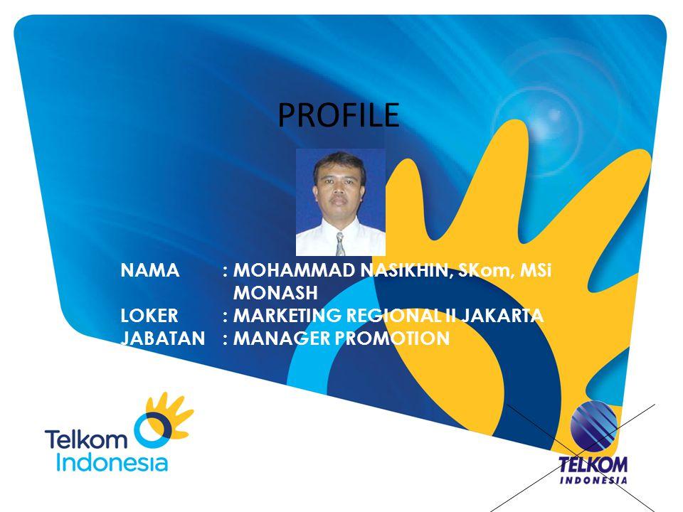 PROFILE NAMA : MOHAMMAD NASIKHIN, SKom, MSi MONASH