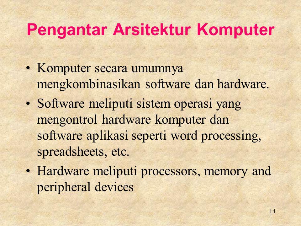 Pengantar Arsitektur Komputer