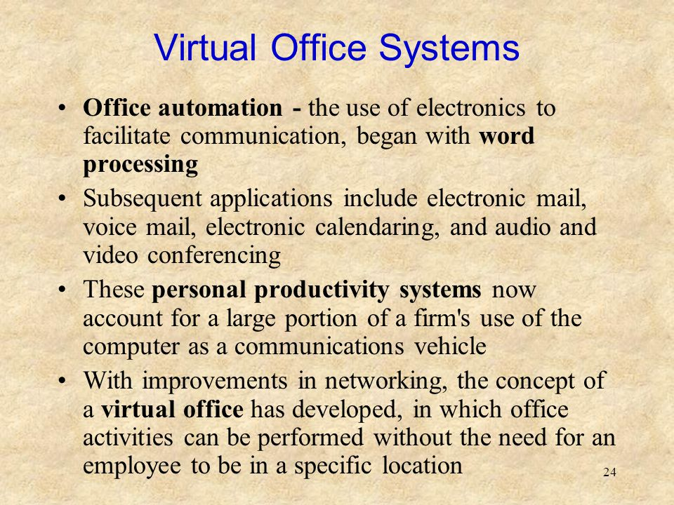 Virtual Office Systems