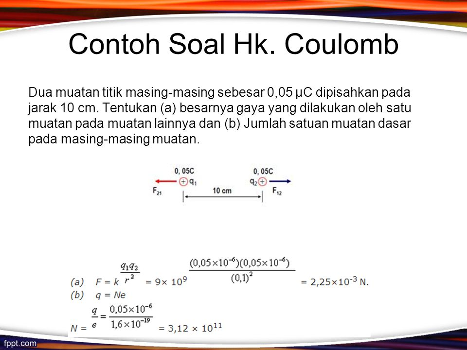 Contoh Soal Hk. Coulomb