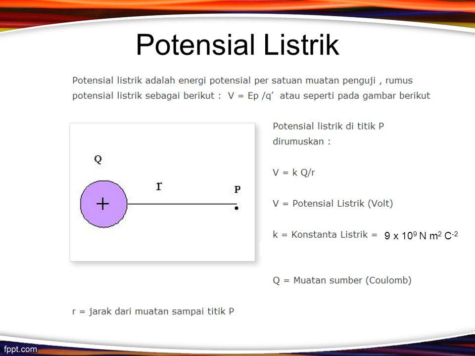 Potensial Listrik 9 x 109 N m2 C-2