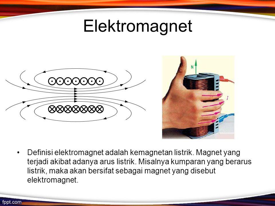 Elektromagnet Sumber: http://id.shvoong.com/exact-sciences/physics/2110354-pengertian-elektromagnet/#ixzz2EAYXA68e.