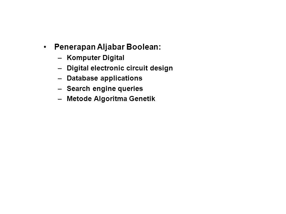 Penerapan Aljabar Boolean: