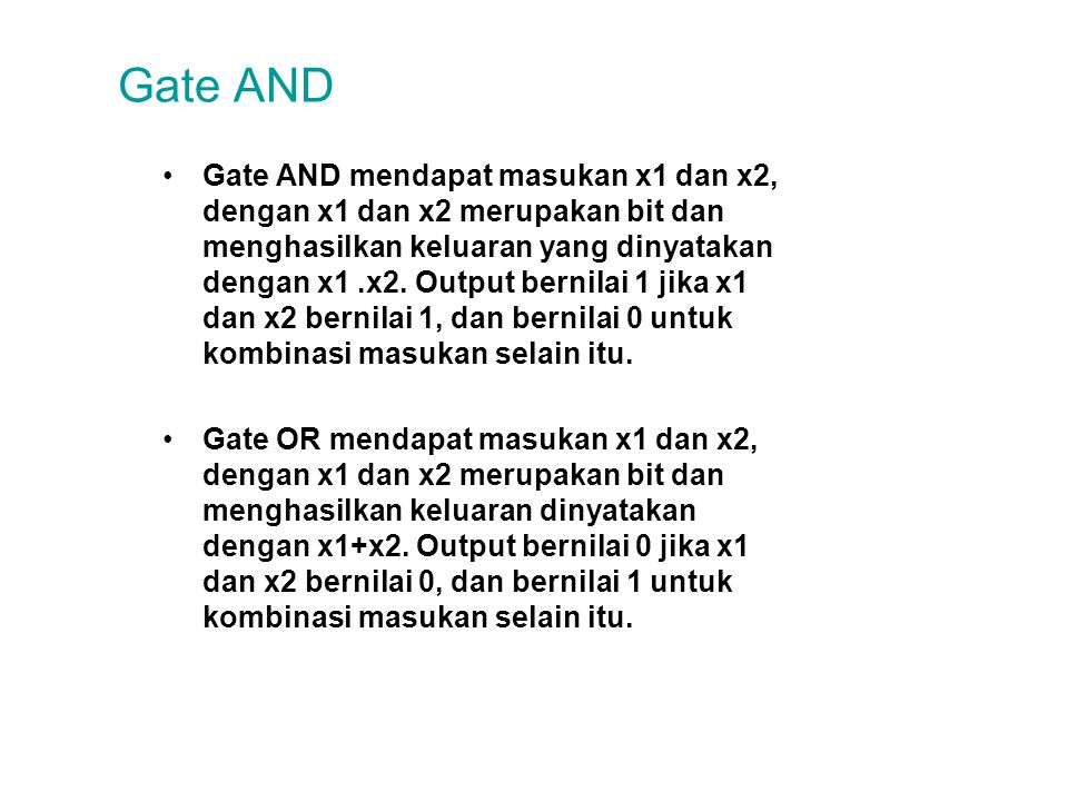 Gate AND
