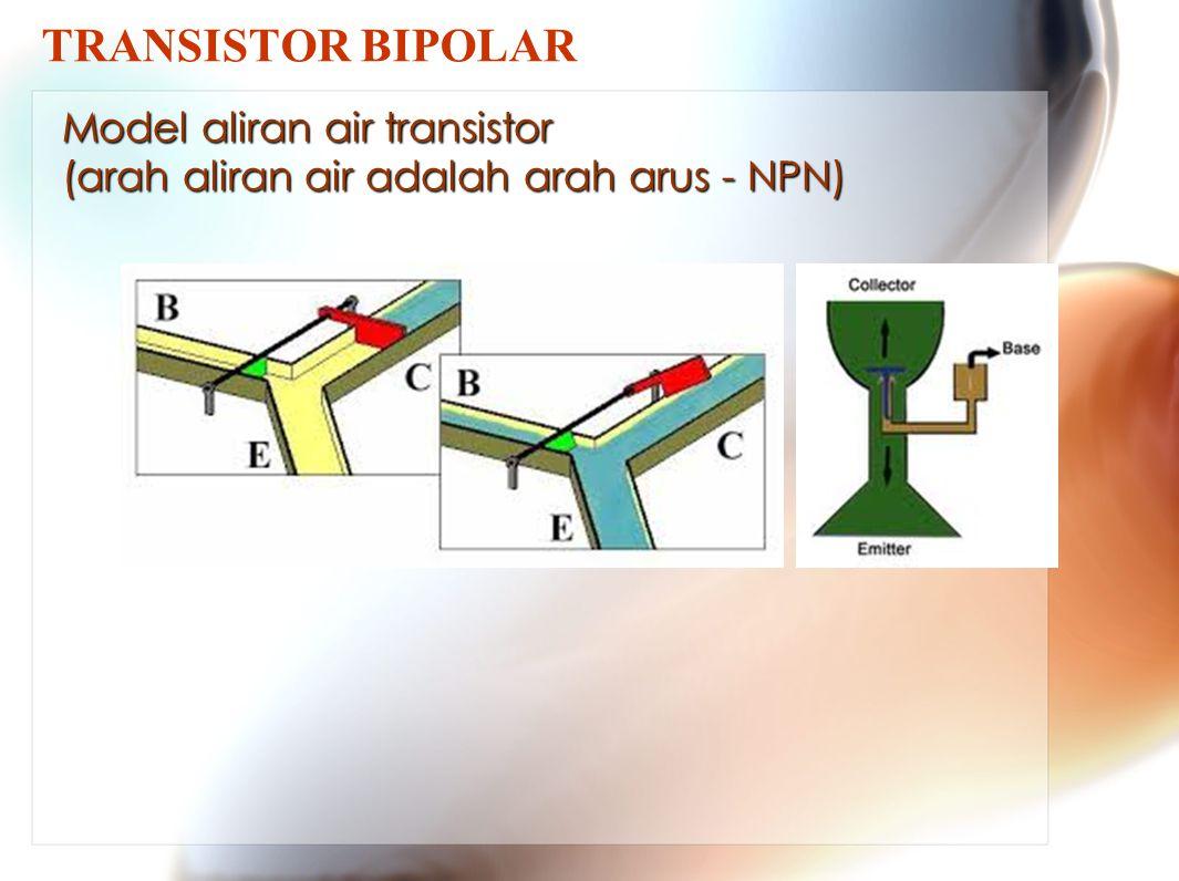 TRANSISTOR BIPOLAR Model aliran air transistor