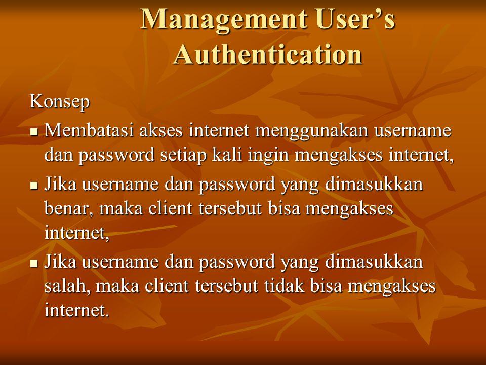 Management User's Authentication