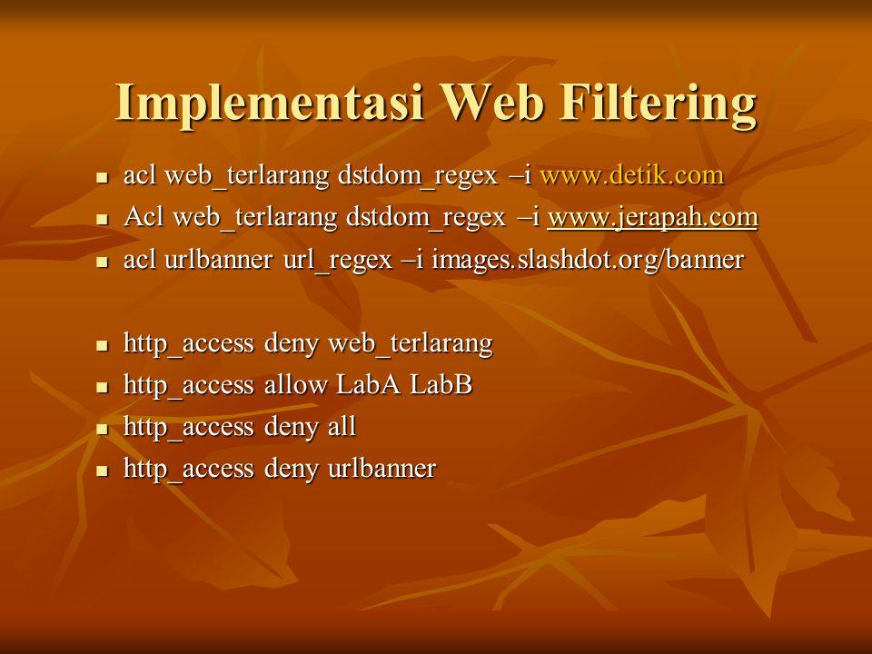 Implementasi Web Filtering
