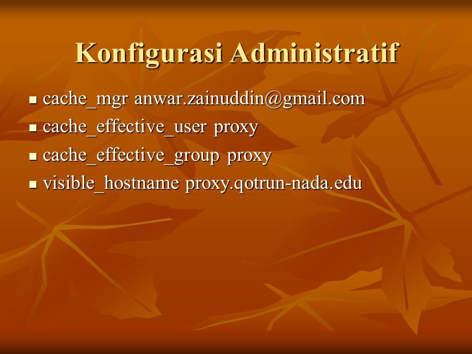 Konfigurasi Administratif