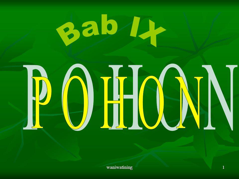 Bab IX P O H O N waniwatining