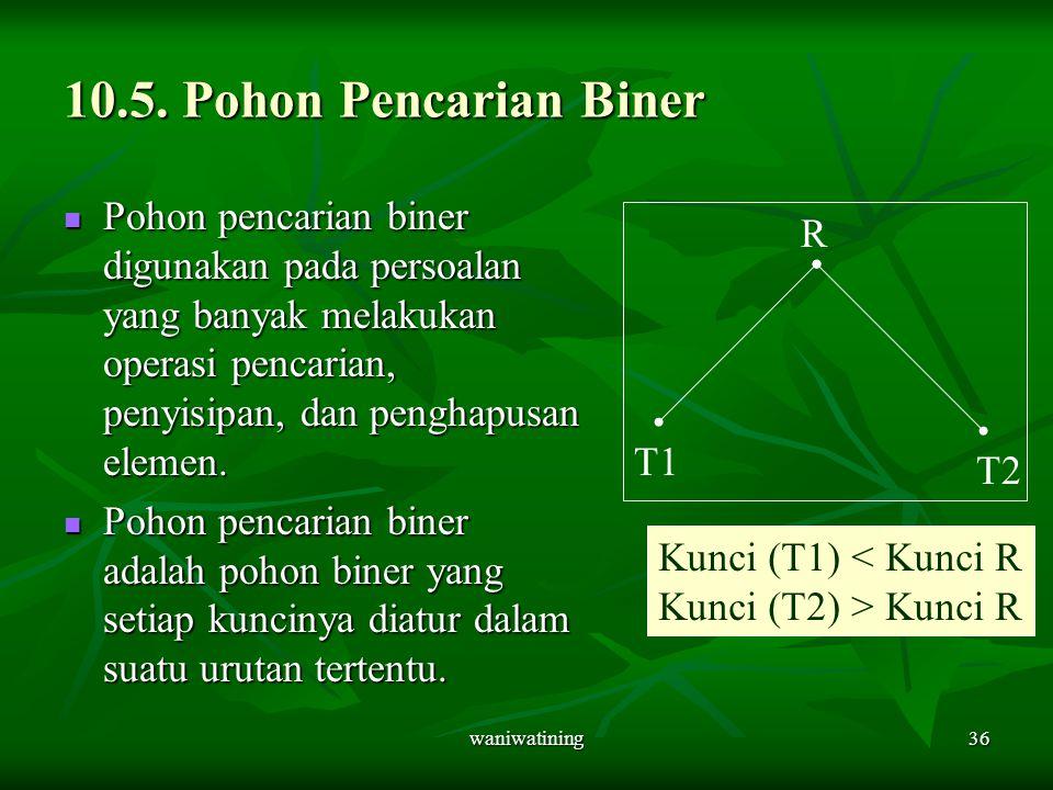 10.5. Pohon Pencarian Biner