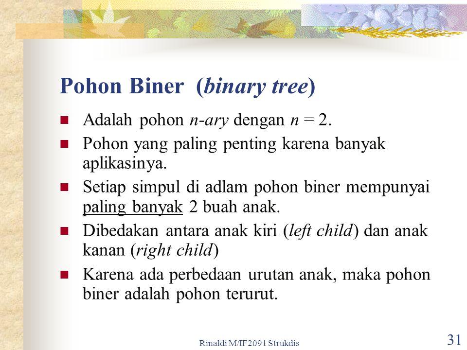 Pohon Biner (binary tree)